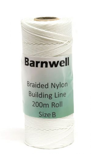 Barnwell Braided Nylon Building Line 200m Roll Size B - Thicker